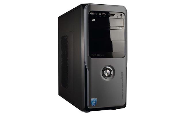 Delux MT457 ATX Classic PC Gehäuse inkl. 400W Netzteil PSU in schwarz