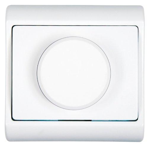 ELEGANCE UP - Dimmer (Serie) 80x80x50, 50-300W, mit Rahmen in weiß