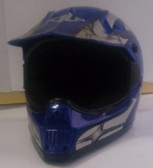 B-Square Motorsports Crosshelm Motorradhelm Quadhelm Helm Gr. L blau