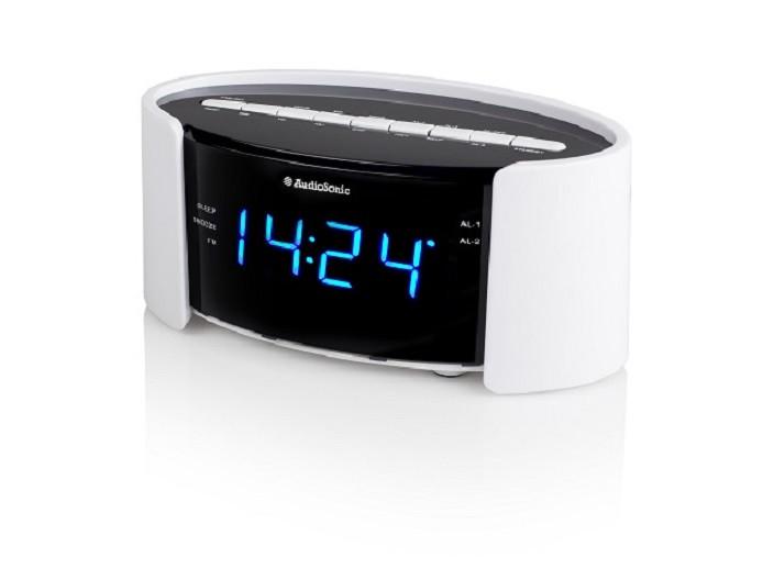 Uhrenradio Wecker PLL Radio Uhr  - Blaues Display Tristar CL-1493