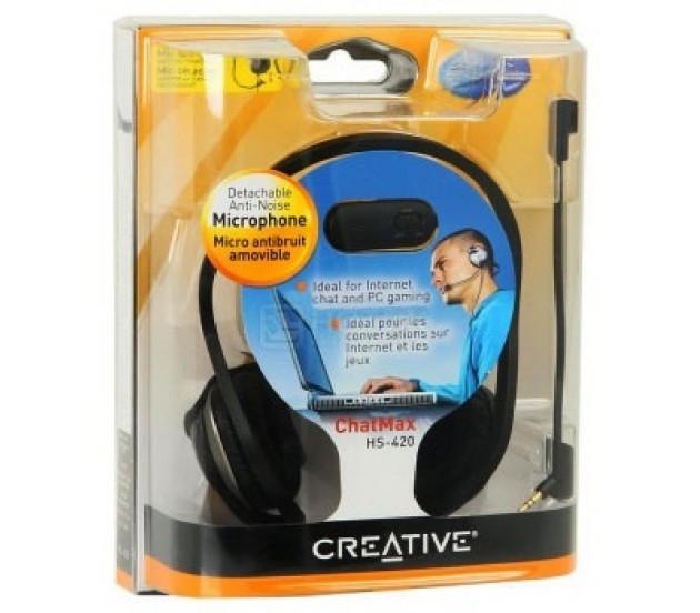 Creative ChatMax HS-420 Gaming Headset mit wechselbarem Mikrofon