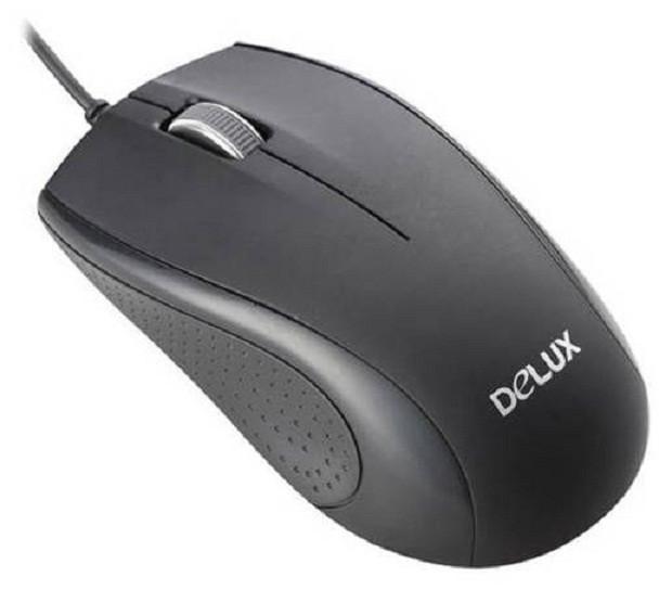 Laptop PC Maus Optisch Kabelgebunden USB DELUX M375BU