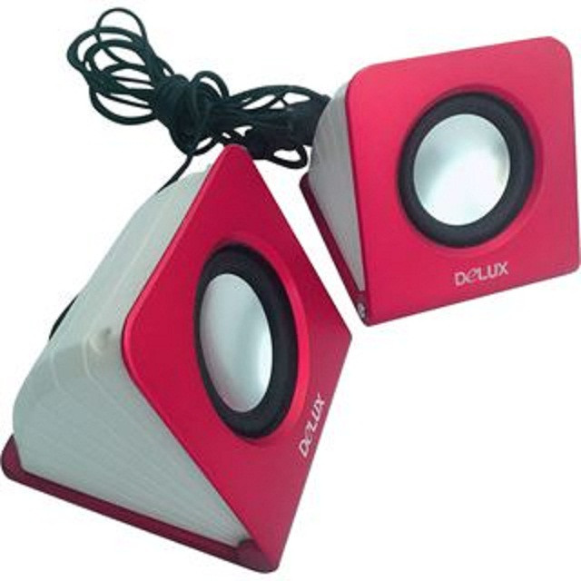Design Laptop PC Lautsprecher Stereo Box USB Speaker Aktiv pink