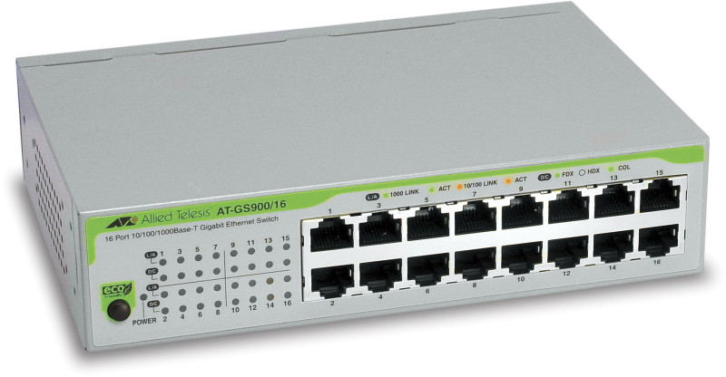 AT-GS900/16-50 AlliedTelesis Gigabit Ethernet Switch 16 Ports lüfterlos
