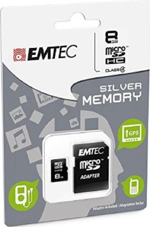 EMTEC ECMSDM8GHC4 Class 4 microSDHC 8GB Speicherkarte