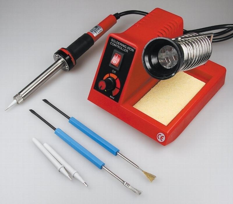 Lötstation Lötkolben + 2 Spitzen + 2 Tools CT-LSK 58W 100-450°C 230V