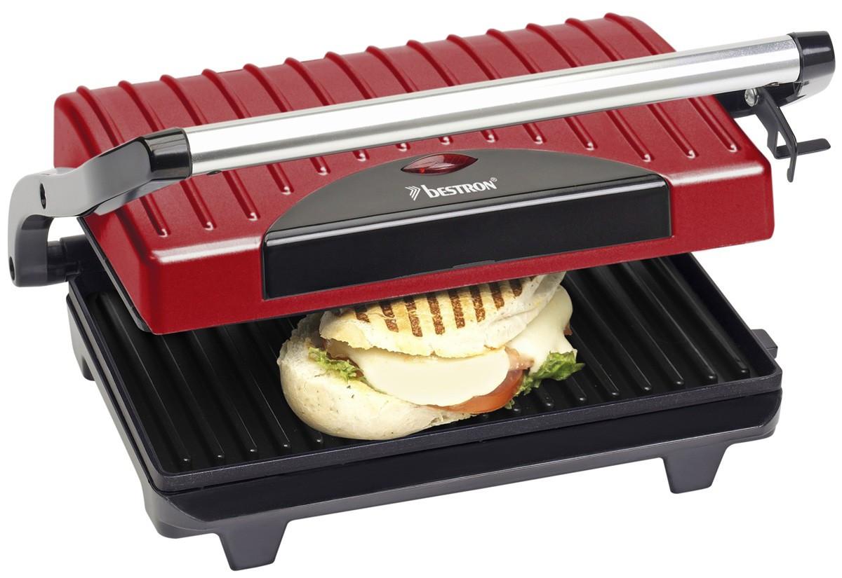 Design Panini Grill Kontaktgrill Elektrogrill Sandwichmaker Toaster Grill BESTRON APG100R
