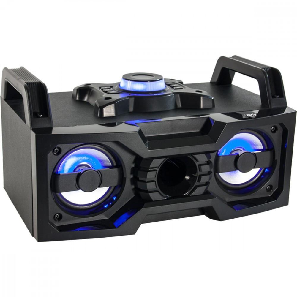 TRAGBARE PARTY - SOUNDBOX LAUTSPRECHER DJ BOX USB BLUETOOTH SYSTEM LED LICHT 50 WATT