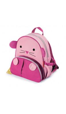 Kindergartenrucksack Kinder Rucksack Tiermuster Tiere Tasche Maus Pink