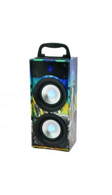 Design Bluetooth Partybox Box Lautsprecher Party Disco Aux USB 20W