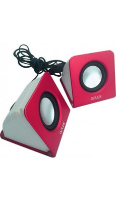 Design Laptop PC Lautsprecher Stereo Box USB Speaker Aktiv pink