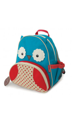 Kindergartenrucksack Kinder Rucksack Tiermuster Tiere Tasche Eule blau rot
