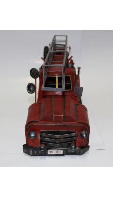 Design Feuerwehr Fahrzeug aus Blech Deko Modell Dekoration Farbe: rot