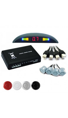 Einparkhilfe Parksensor  PDC Rückfahrhilfe m. 4 Park - Sensoren Schwarz