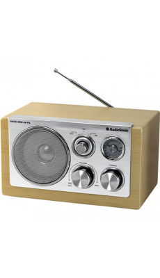 Audiosonic Retro Radio in ansprechender Buchen-Optik, UKW/MW und AUX-IN