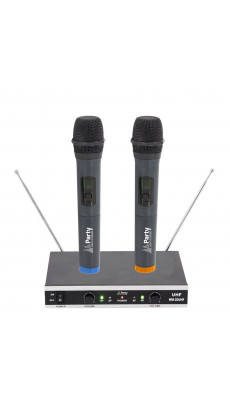 UHF Funk Mikrofon System DJ Karaoke Funk Mikrofon Set Mic WM-20UHF