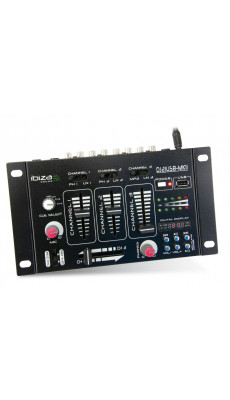 MISCHPULT  IBIZA DJ21USB-MKII 4-KANAL Stereo Mixer mit USB / MP3