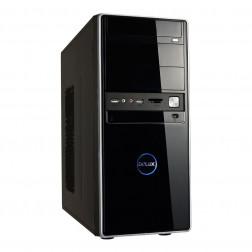 Delux MT459 ATX Classic PC Tower Gehäuse mit 400W Netzteil in schwarz
