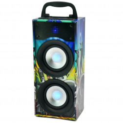 Design Bluetooth Partybox Box Lautsprecher Party Disco Aux USB 20W