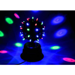 LED DISCO LICHTEFFEKT DISCOKUGEL DISCOSTRAHLER FANTASTIC-BALL 39 LEDS NEU